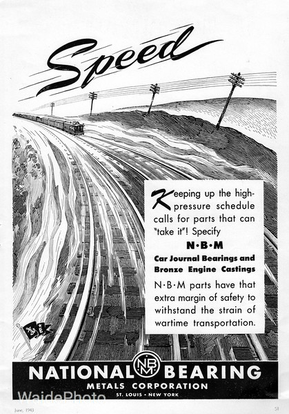 1943 National Bearing Metals, Corporation.