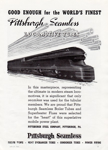 1939 Pittsburg Seamless.