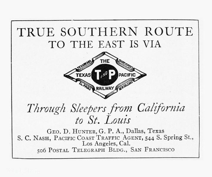 1912 Texas & Pacific Railway.