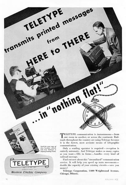 1940 Teletype, Western Electric.