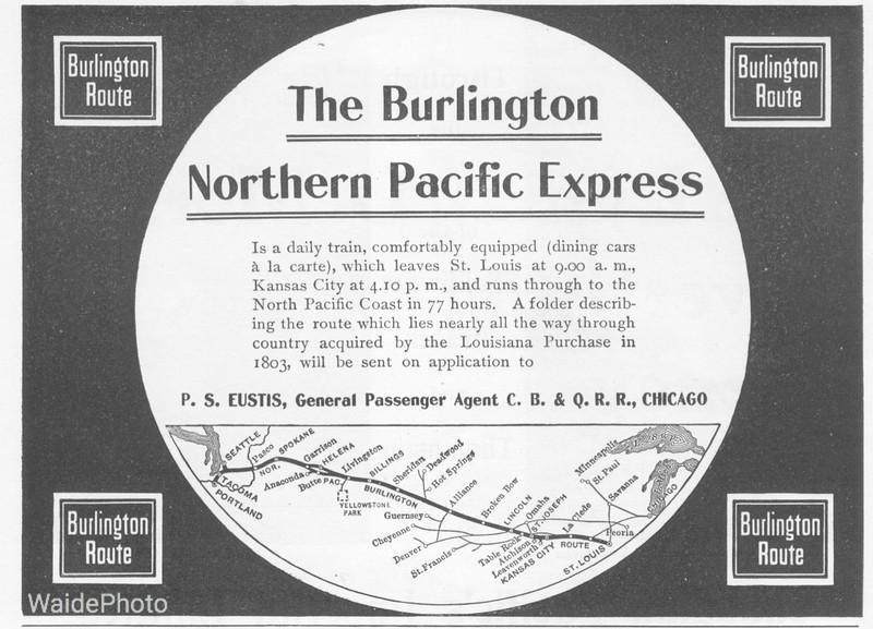 1900 Chicago, Burlington & Quincy.