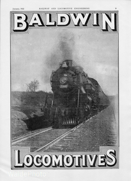 1922 Baldwin Locomotive Works.