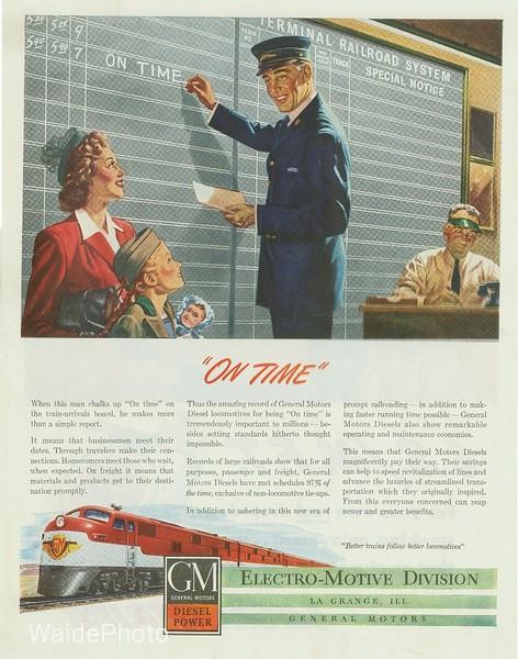 1940's General Motor's Electro-Motive Division.