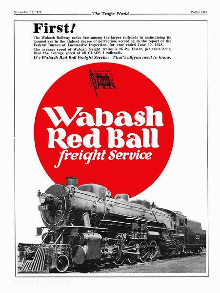 1929 Wabash Railway.