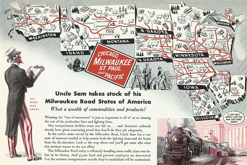 1940's Chicago, Milwaukee, St. Paul & Pacific.