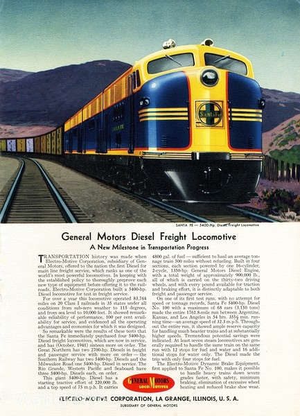 1941 Electro Motive Corporation and General Motors.