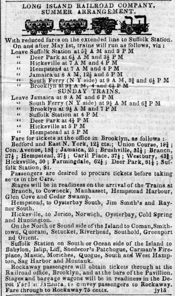 1843 Long Island Railroad Company.