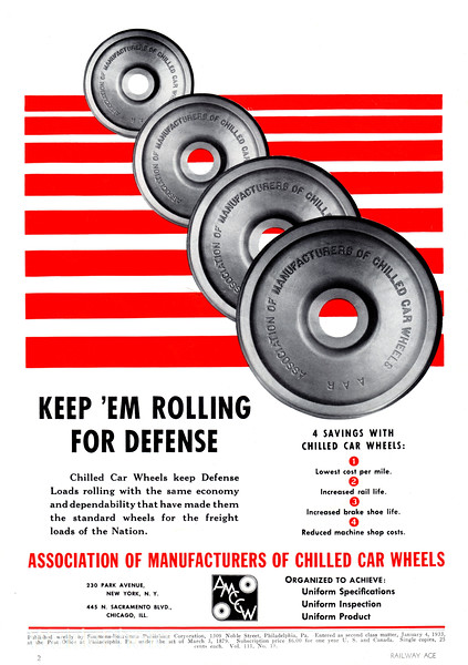 1941 Association of Manufacturers of Chilled Car Wheels.
