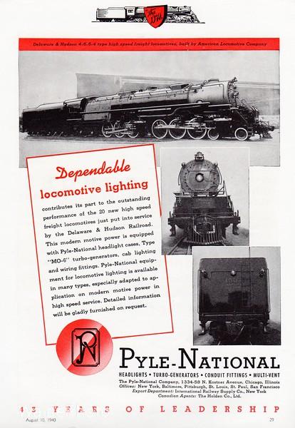 1940 Pyle National Company.