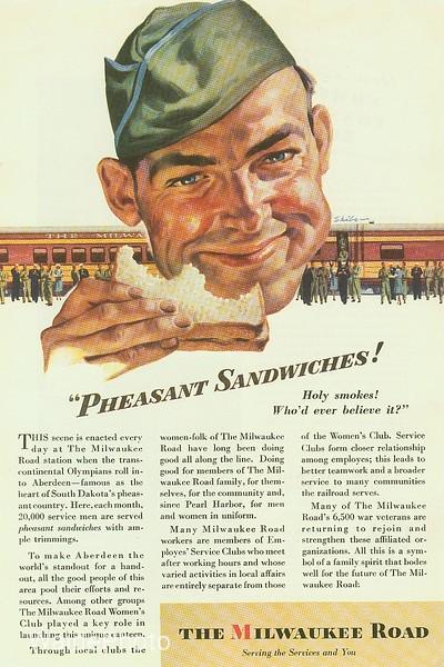 1940's Chicago, Milwaukee, St. Paul & Pacific.