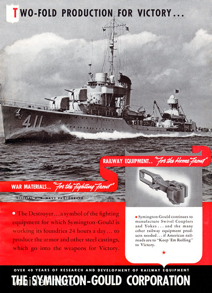 1940's Symington Gould Corporation.<br /> <br /> USS Anderson.