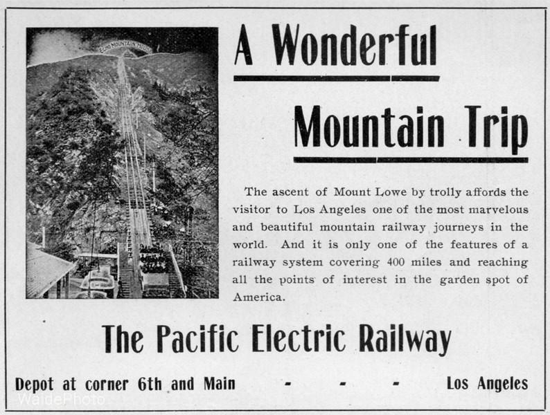 1905 Pacific Electric Railway.