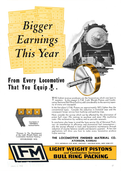 1940 Locomotive Finished Material Company.