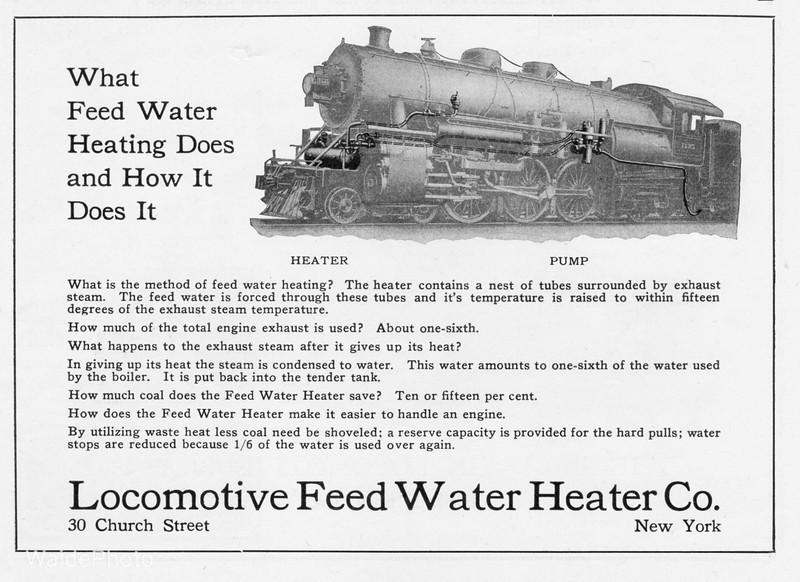 1919 Locomotive Feed Water Heating Co.