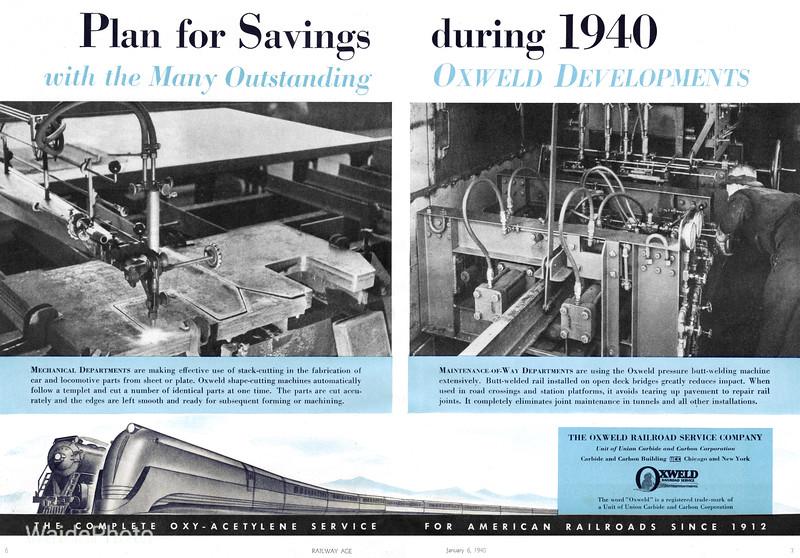 1940 Oxweld Railroad Service Company.