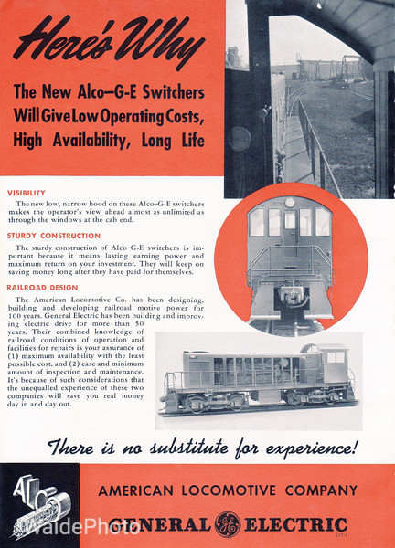 1940 Alco and General Electric.