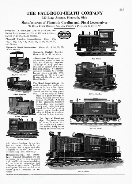 1930 Fate-Booth-Heath Company.