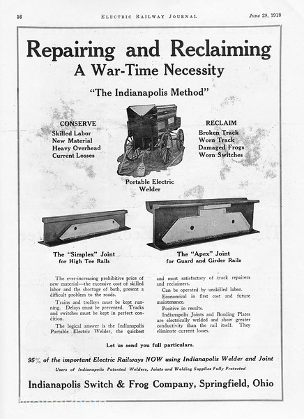 1918 Indianapo;is Switch & Frog Company