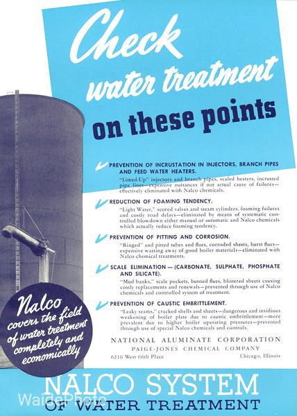 1940 National Aluminate Corporation, Paige-Jones Chemical Company.
