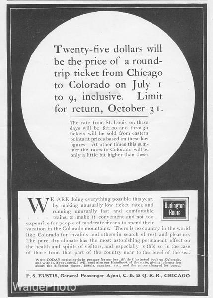 1901 Chicago, Burlington & Quincy.