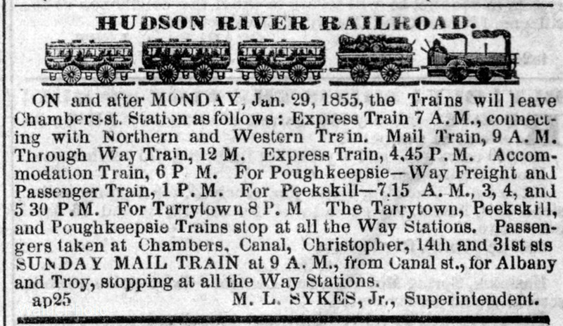 1855 Hudson River Railroad.
