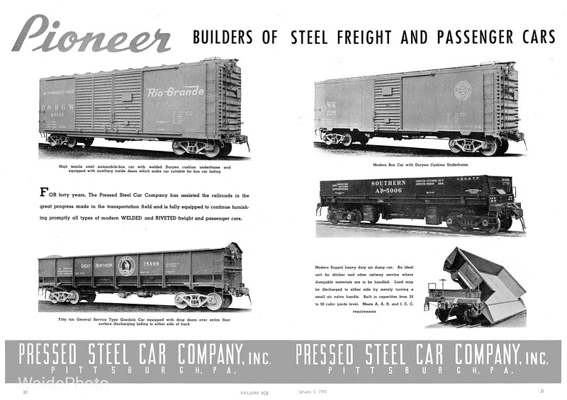 1940 Pressed Steel Car Company.