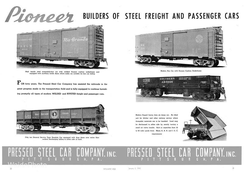 1940 Pressed Steel Car Company.