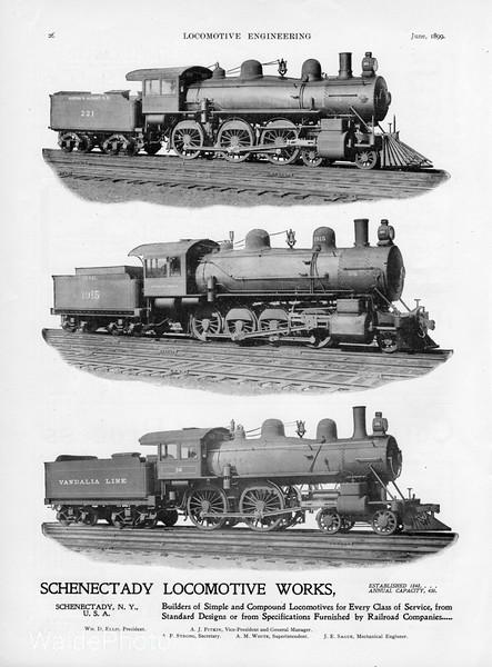 1899 Schenectady Locomotive Works (Alco) advertisement.