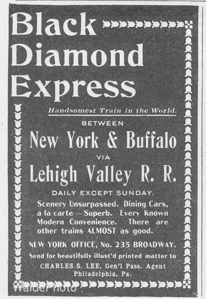 1896 Lehigh Valley Railroad.