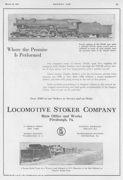 1921 Locomotive Stoker Company.