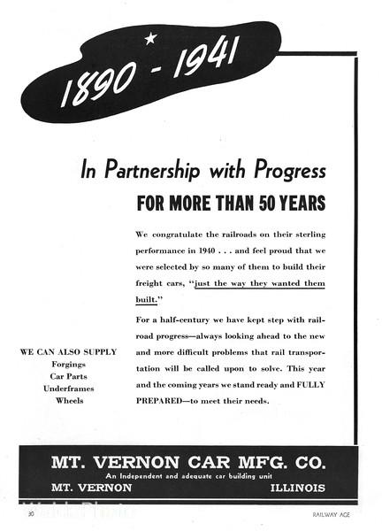 1941 Mt. Vernon Car Manufacturing Company.