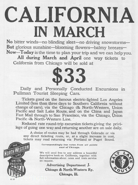1907 Union Pacific and the Chicago North Western.