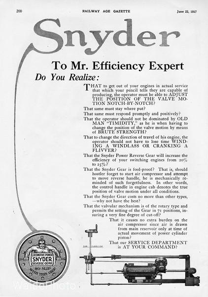 1917 Snyder.