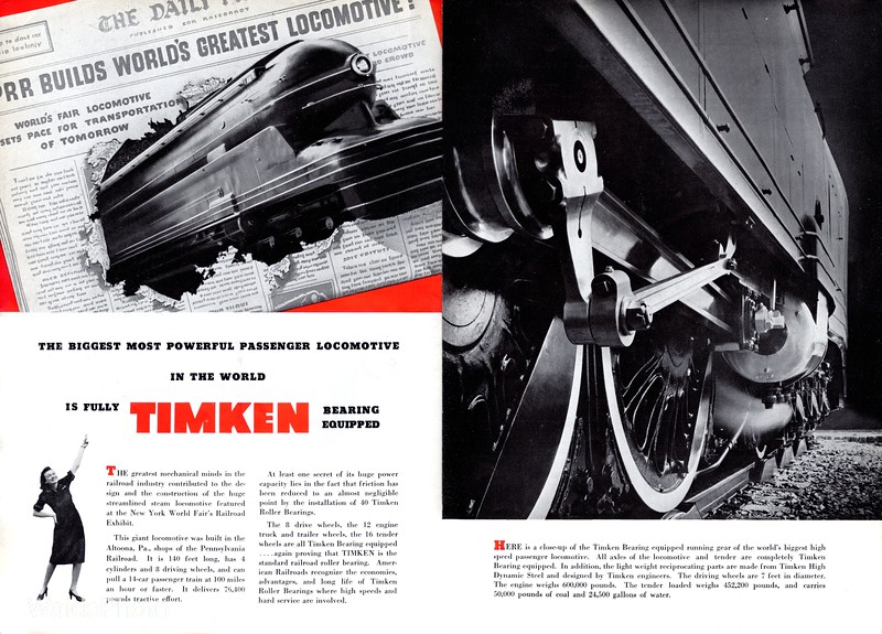 1939 Timken Roller Bearing Company - Page 2 & 3 of 7.
