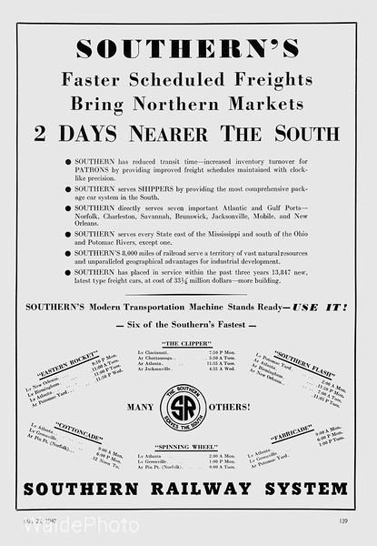 1940 Southern Railway.