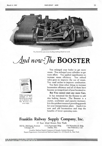 1922 Franklin Railway Supply Company.