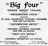 1899 Big Four advertisements.