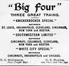 1899 Big Four advertisements.