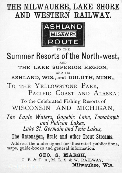 1888 Milwaukee, Lake Shore & Western Railway.