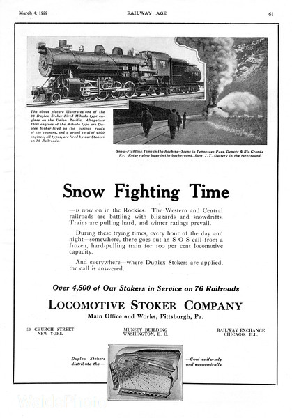 1922 Locomotive Stoker Company.