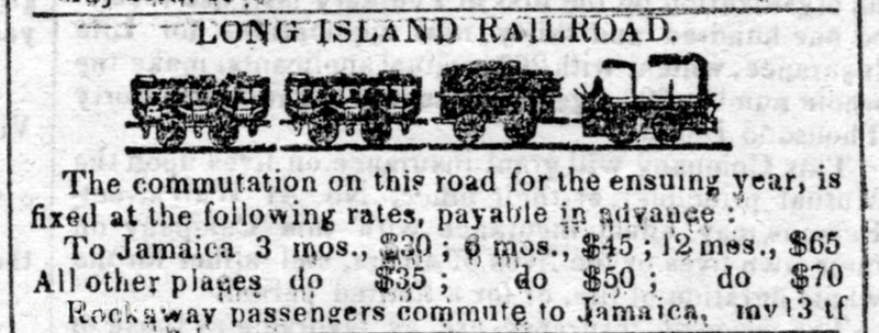1843 Long Island Railroad.
