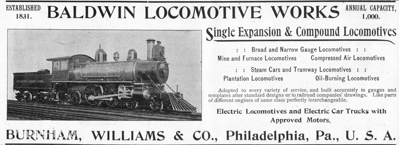 1895 Baldwin Locomotive Works.