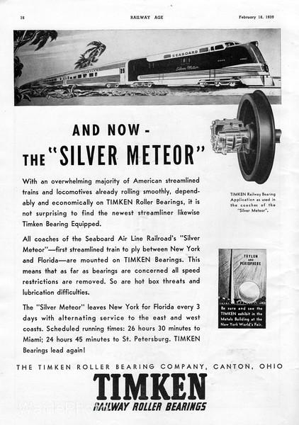 1939 Timken Roller Bearing Company.