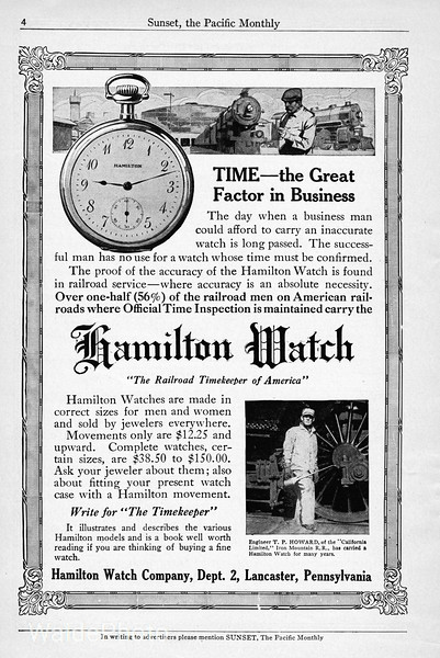 1914 Hamilton Watch Company.
