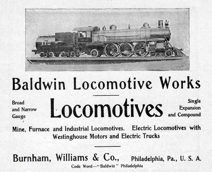 1904 Baldwin Locomotive Works.