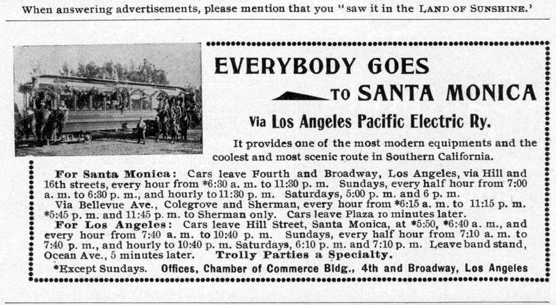 1899 Los Angeles Pacific Electric Railway.