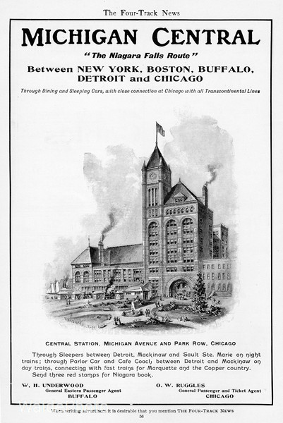 1904 Michigan Central.<br /> <br /> Central Station, Chicago.