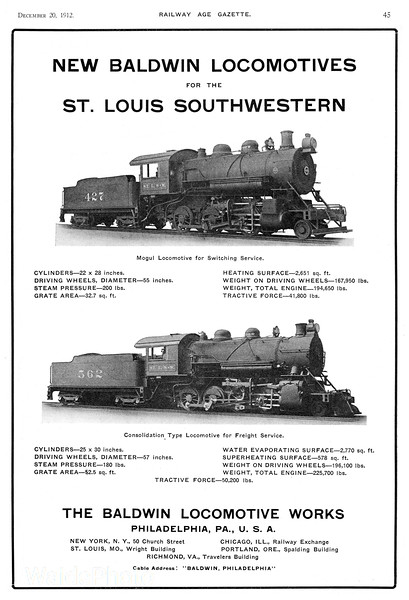 1912 Baldwin Locomotive Works.