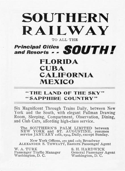 1904 Southern Railway.