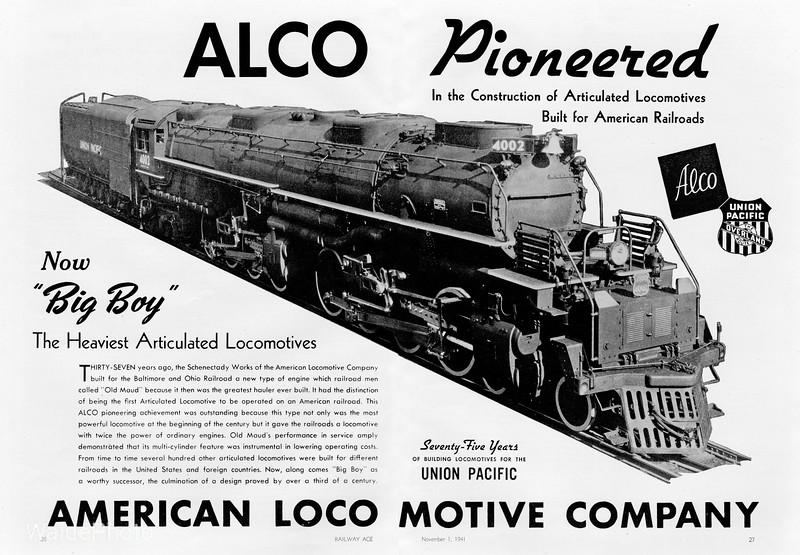1941 Alco - Big Boy 4.